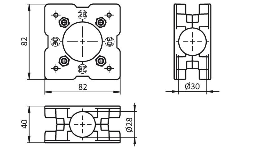 Suspension Plate D28 / D30 2D
