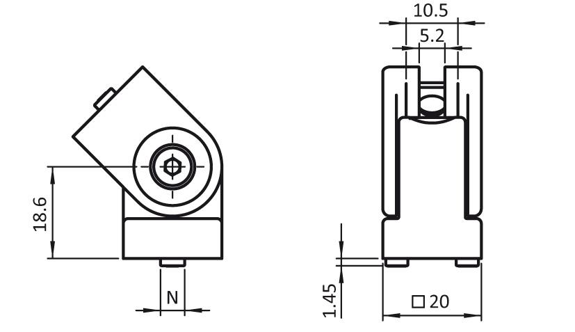 Pivot Joint B 20 2D