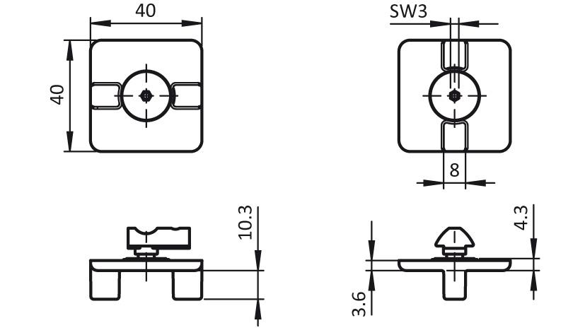 T-slot Slider 2D