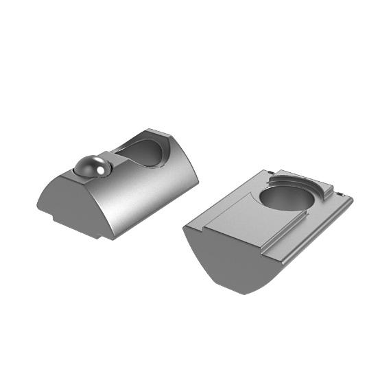 Roll-in T-slot Nut 13.5 x 7.2 mm short 3D